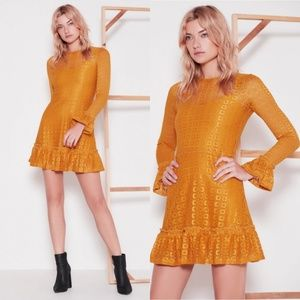The Fifth Label Symbols Lace Long Sleeve Dress